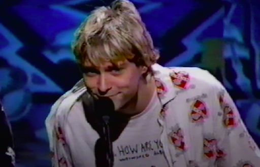 "Kurt Cobain smiles adorably as he differentiates between their ""true"" fans and all the other bullshit people like someone we went to high school with who shall remain nameless."
