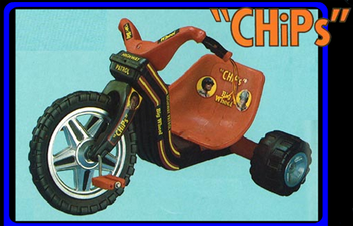 Super awesome badass CHiPs Big Wheel